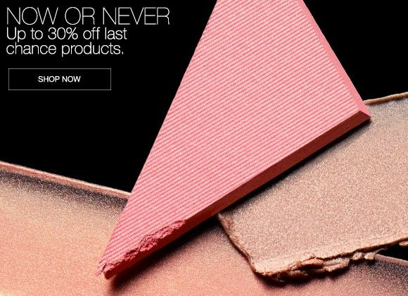 NOW OR NEVER. Up to 30% off last chance products. Exclusively on narscosmetics.co.uk. Shop now